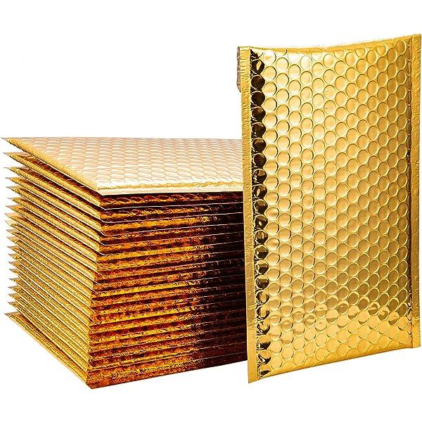 15x13cm 18x23cm Buble Wraps 20 St/ück wasserdichte Rose Gold Bubble Envelope Foam Foil Versandversand Bubble Mailer Envelopes Geschenkverpackung 15x13cm