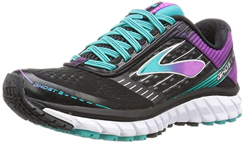 d1d1ef787ff Brooks Women s Ghost 9 Running Shoes Black Sparkling Grape Ceramic 5.5 B(M