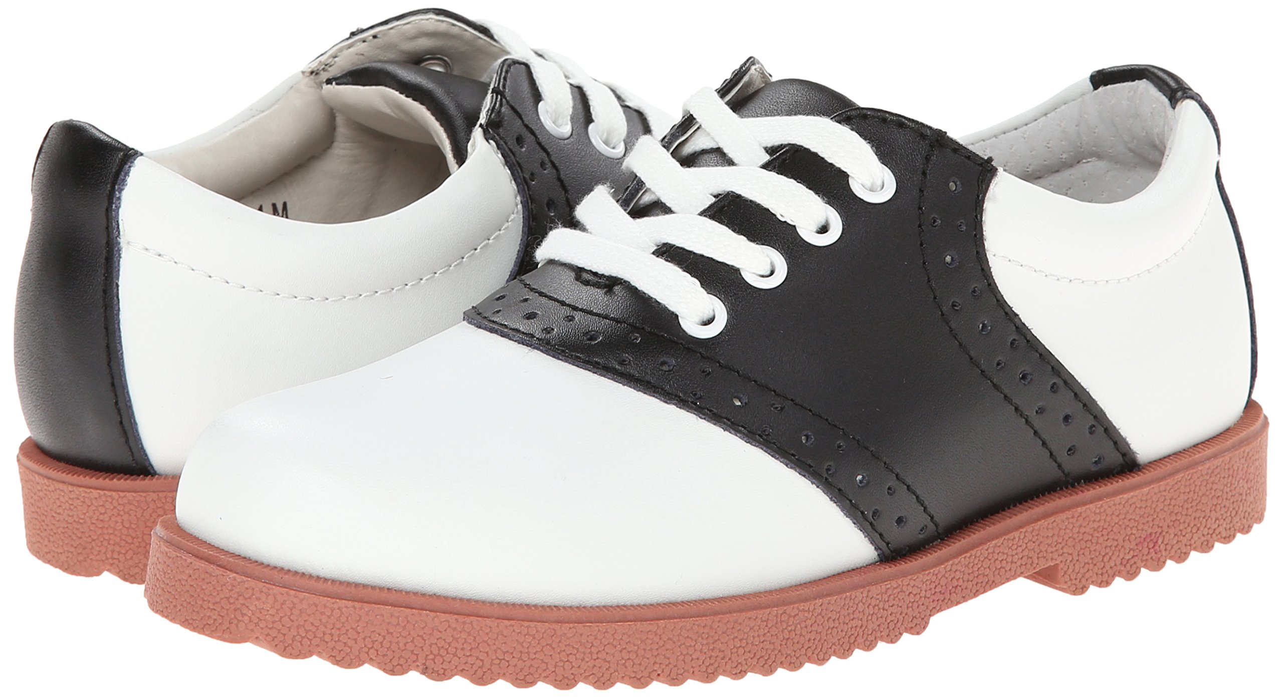 Academie Gear Honor Roll Saddle Shoe (Toddler/Little Kid/Big Kid),White/Black,4 W US Big Kid by Academie Gear (Image #6)