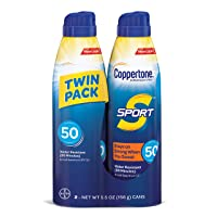 Coppertone Sport Continuous Sunscreen Spray Broad Spectrum SPF 50 (5.5 Ounce Per...