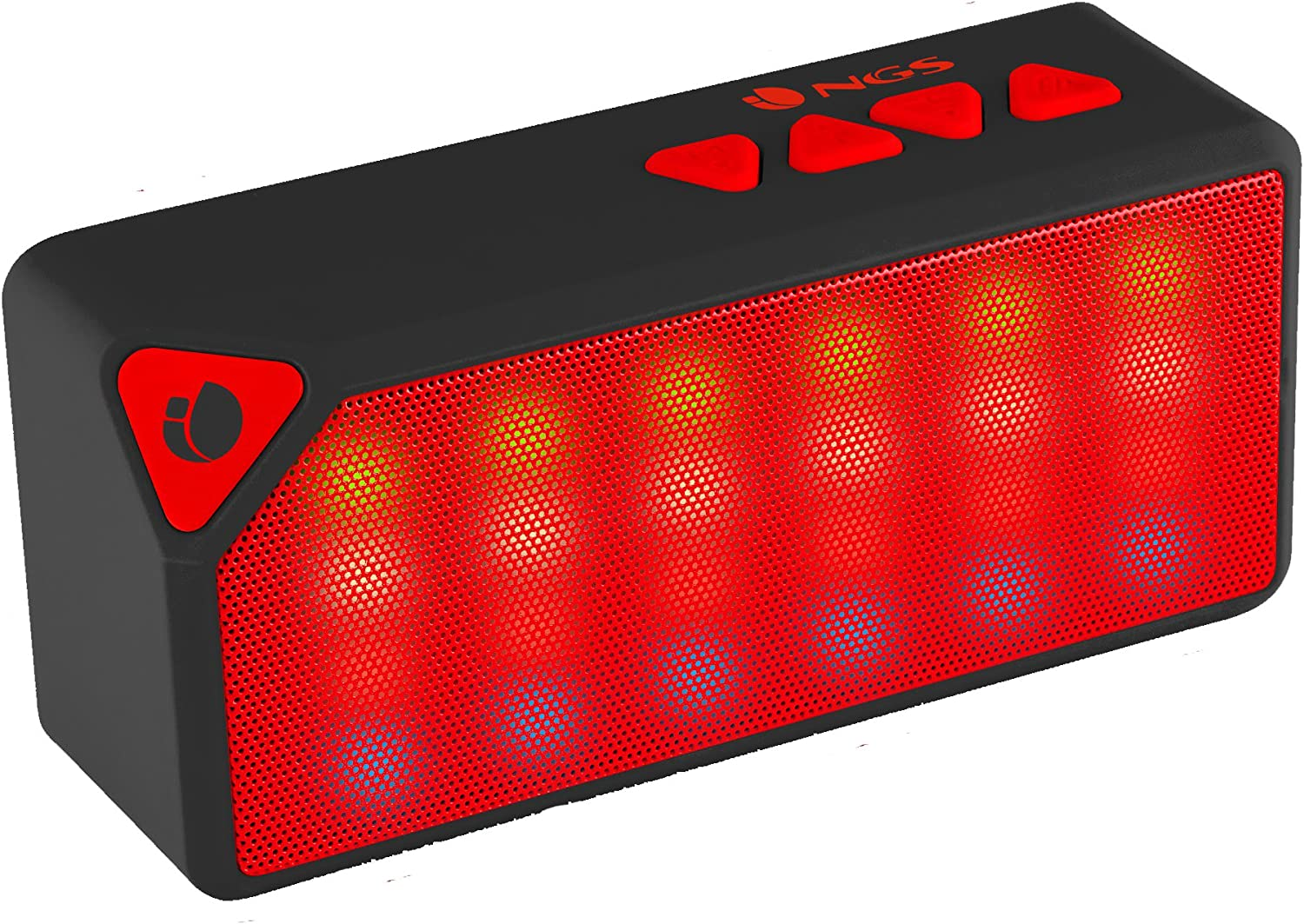 NGS Roller Flash - Altavoz con Bluetooth, color rojo