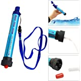 Portable Personal Water Filter Purifier Straw Camping Hiking Travel Climbing Filtration for Survival Emergency Preparedness