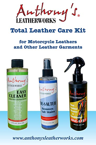 anthonys leatherworks total leather care kit for motorcycle leathers gloves purses shoes - Leather Furniture Care Kit
