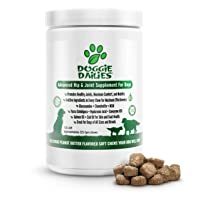 Doggie Dailies Glucosamine for Dogs, 225 Soft Chews, Advanced Hip and Joint Supplement...