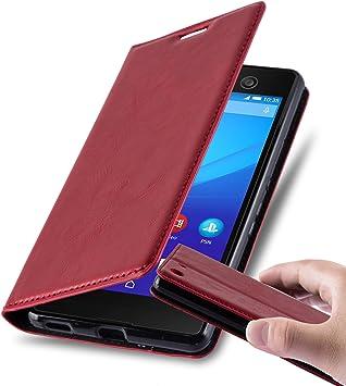 Cadorabo Funda Libro para Sony Xperia M5 en Rojo Manzana – Cubierta Proteccíon con Cierre Magnético, Tarjetero y Función de Suporte – Etui Case Cover ...