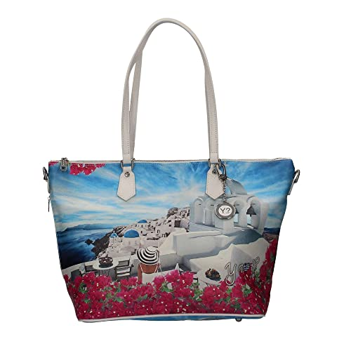 Borsa Y Not santorini white J-397 Shopping grande  Amazon.it  Scarpe e borse 4341bc42f06