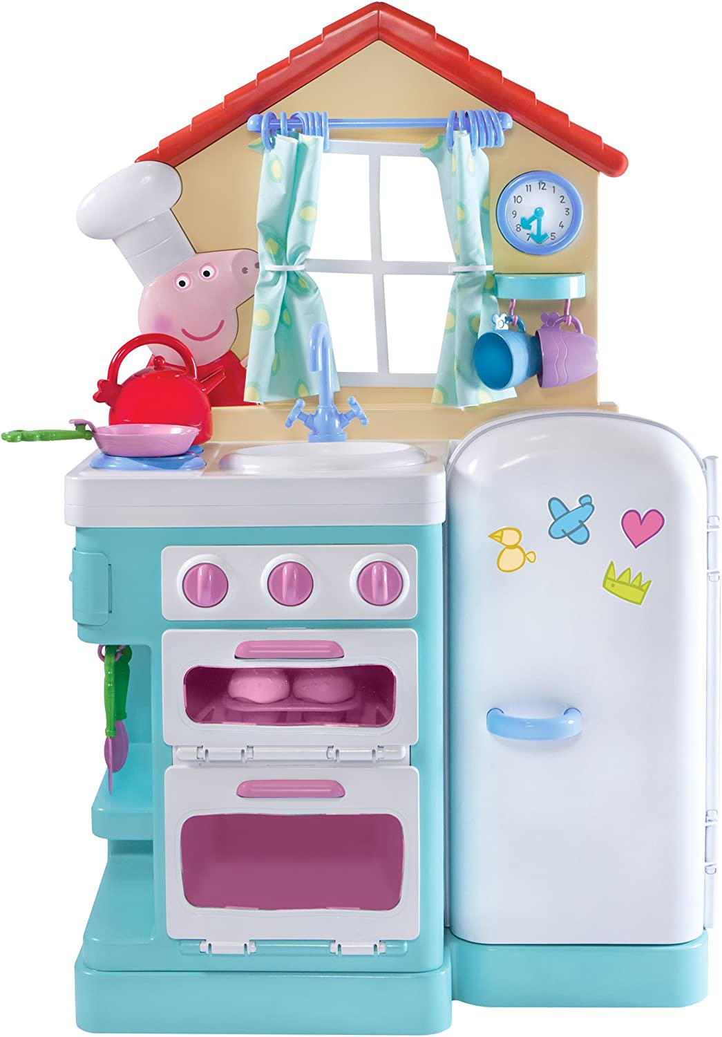 Amazon Com Peppa S Little Kitchen Deluxe Feature Role Play Toys Games