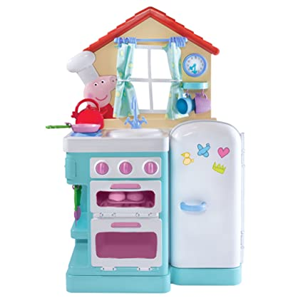 Amazon Com Peppa S Little Kitchen Deluxe Feature Role Play Toys