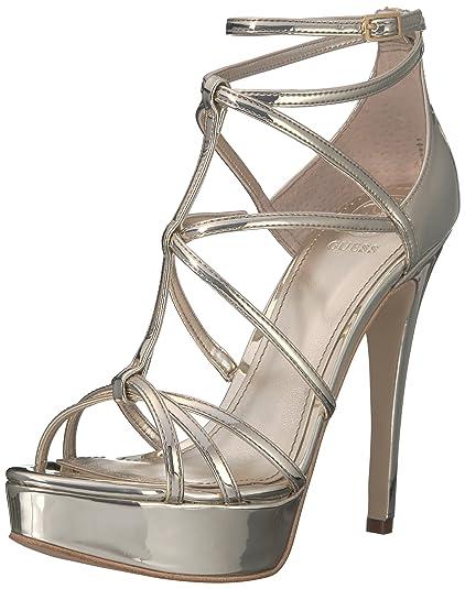 cd8acba72ab GUESS Women s Kico Strappy Platform Heels  Amazon.ca  Shoes   Handbags