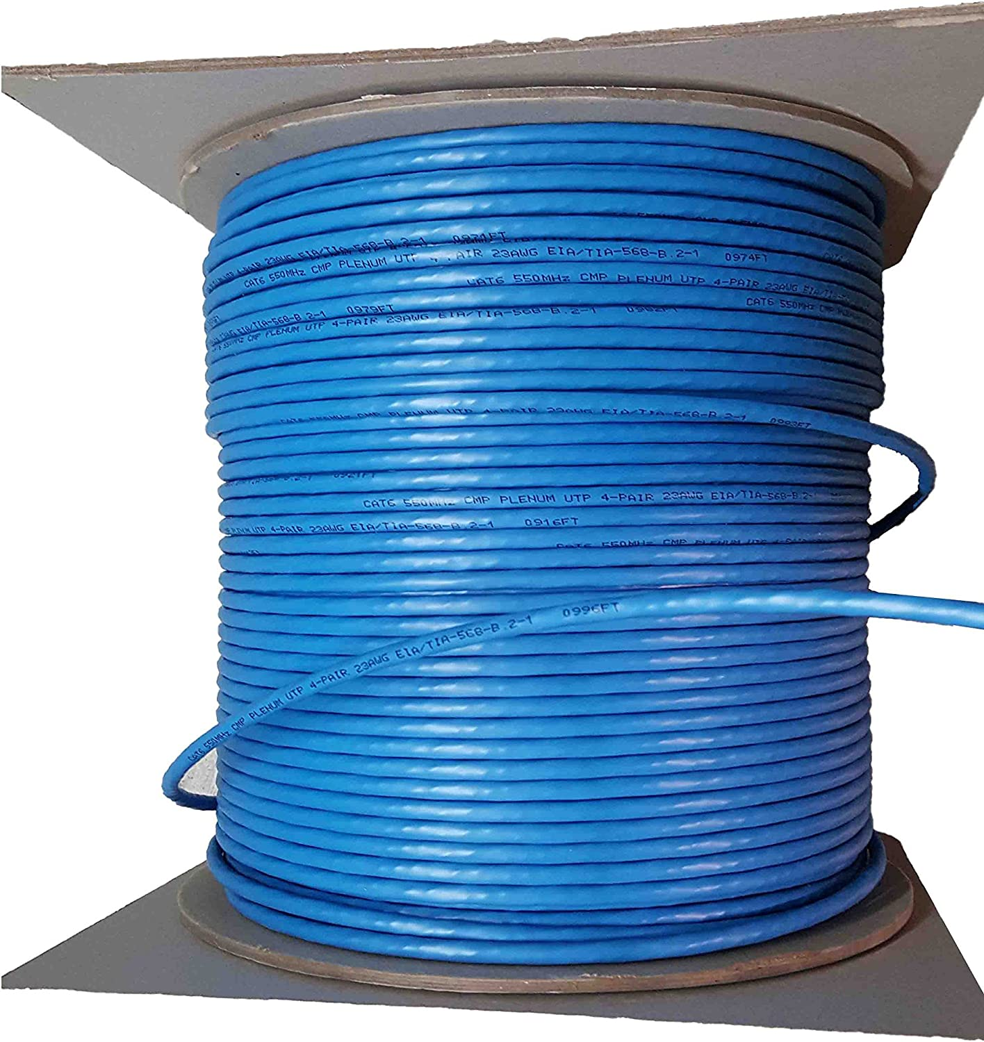 CAT5e Plenum CMP Rated 1000Ft UTP Bulk Ethernet Cable White iTechCables 350MHz Solid Conductor Network Cable Unshielded Twisted Pair Fluke Test Passed 24AWG 4Pair