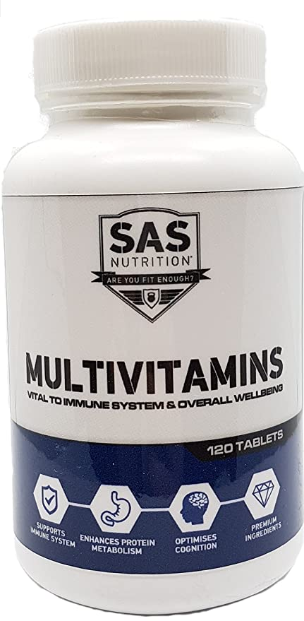 SAS Nutrition Multivit 120 Tablets - Multi Vitamin A - Z for Daily Wellbeing