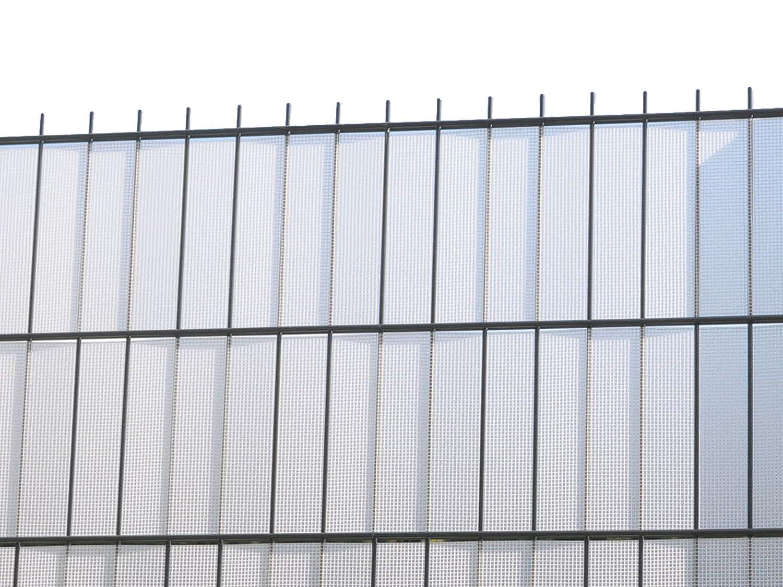 Sichtschutz zum Doppelstabzaun weiß transparent Rolle á 70 m inkl
