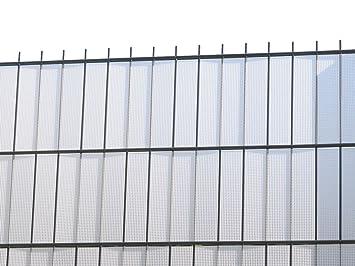 Zaun Nagel Sichtschutz Zum Doppelstabzaun Weiss Transparent Rolle A