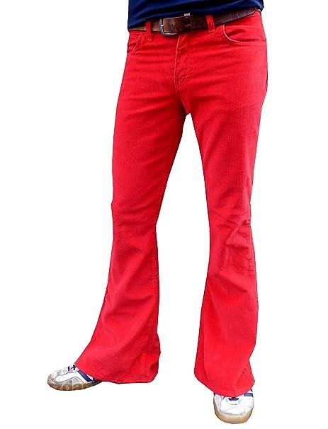 Fuzzdandy Hombre Pantalones Campana Acampanados Rojo ...