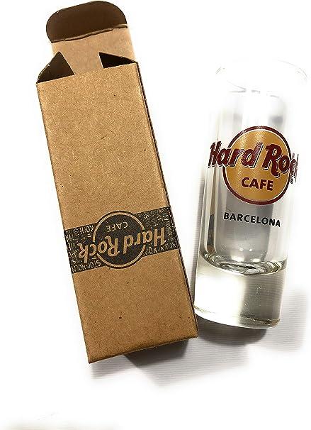 Hard Rock Cafe HRC Barcelona Barca (España) vasos de chupito: Amazon.es: Hogar