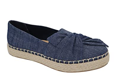 09d80f56e83 Dr. Scholl s Women s Bow Espadrille Shoes Denim (8.5 B(M) ...