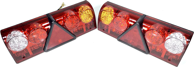 2X UNIVERSAL 12V 24V 6 FUNCTION LED REAR TAIL TRAILER CARAVAN LIGHTS LAMPS TRUCK LORRY
