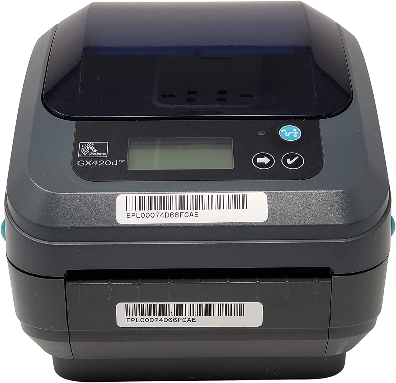 Zebra GX420D with Display, Thermal Label Barcode Printer, USB/Ethernet/Serial Connectivity, GX42-202410-000 (Renewed)