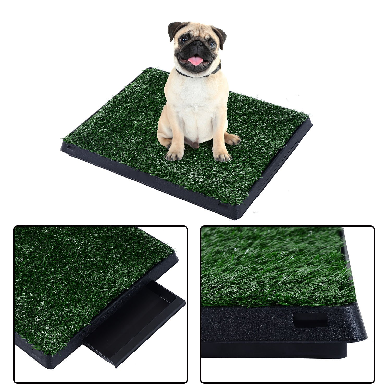 Pet Dog Toilet Mat Indoor Potty Tray Training Grass Box Pad Patch Litter Outdoor