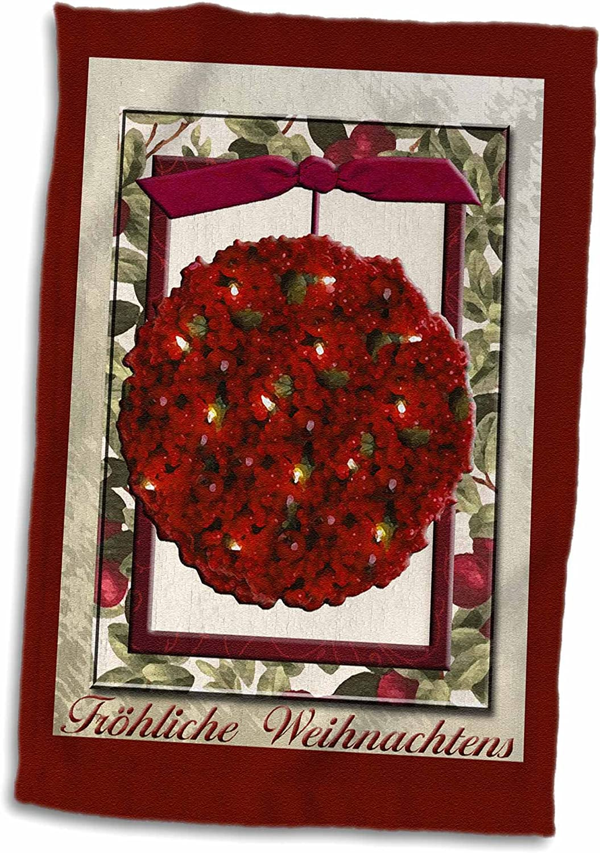 3D Rose Christmas D/écor-Santa Fe-New Mexico-Usa-Us32 Jmr1311-Julien McRoberts Towel 15 x 22