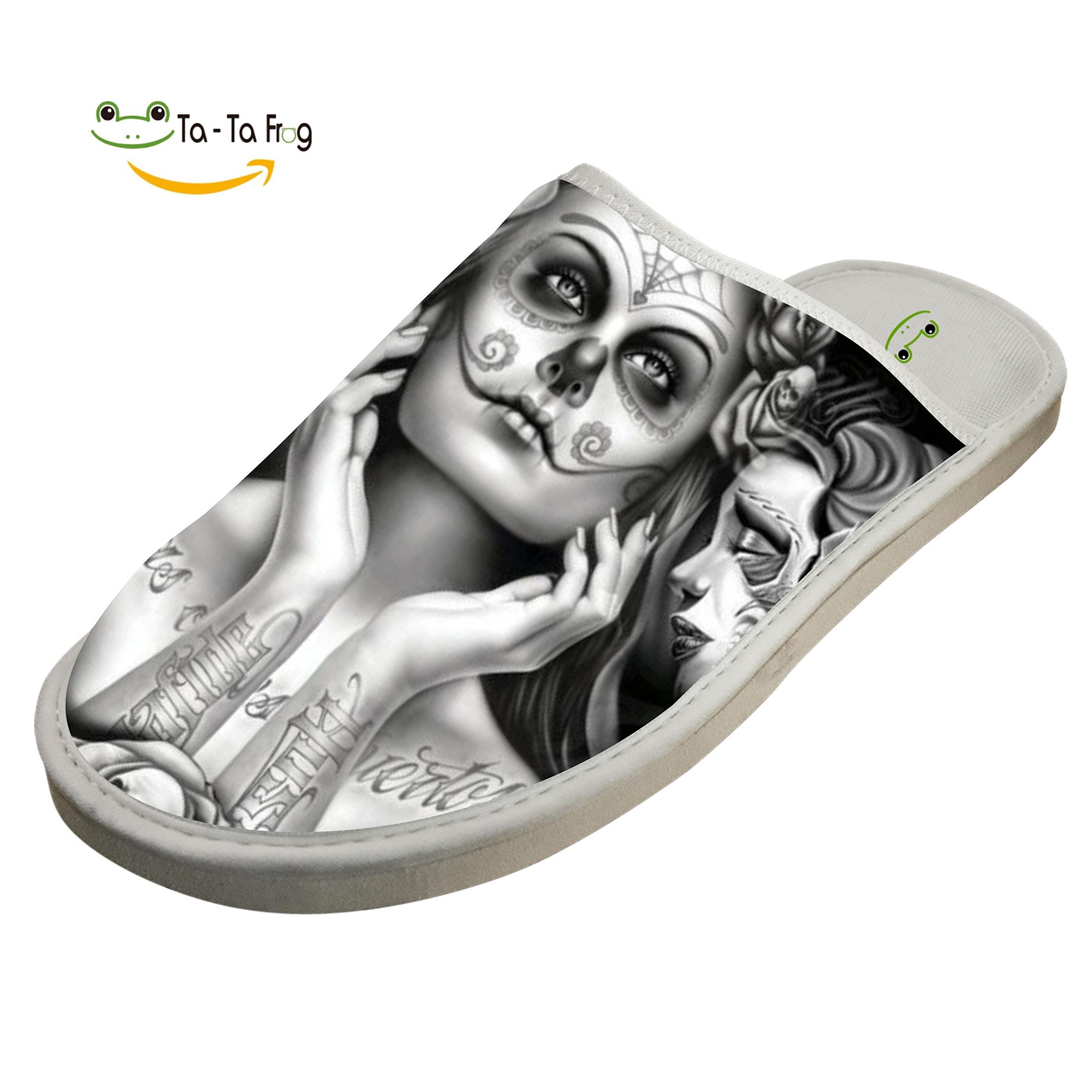 Slippers with Sugar Skull Girl 3D Print Indoor Sandals Adults Shoes Flat House Flip Flops 9