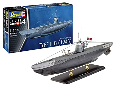Revell German Submarine Type IIB (1943) Kit Modelo 05155: Amazon.es: Juguetes y juegos