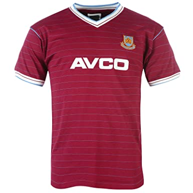 6e752f33692 West Ham United FC Official Soccer Gift Mens 1986 Retro Home Kit Shirt Small
