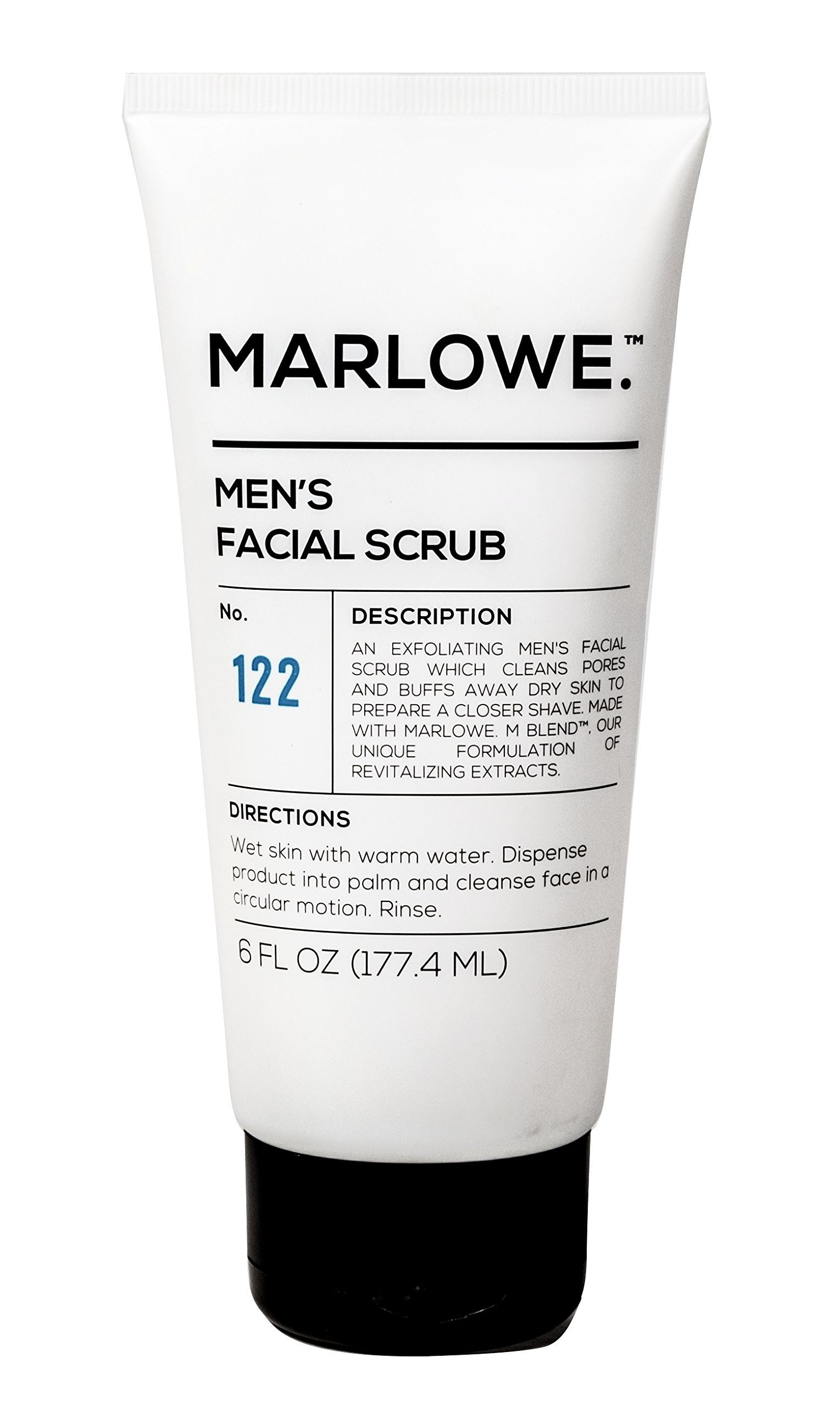 MARLOWE. No. 122 Men's Facial Scrub 6 oz | NEW Improved Formula | Light Daily Exfoliating Face Cleanser | Fresh Sandalwood Scent | Made with Natural Ingredients by MARLOWE. M BLEND