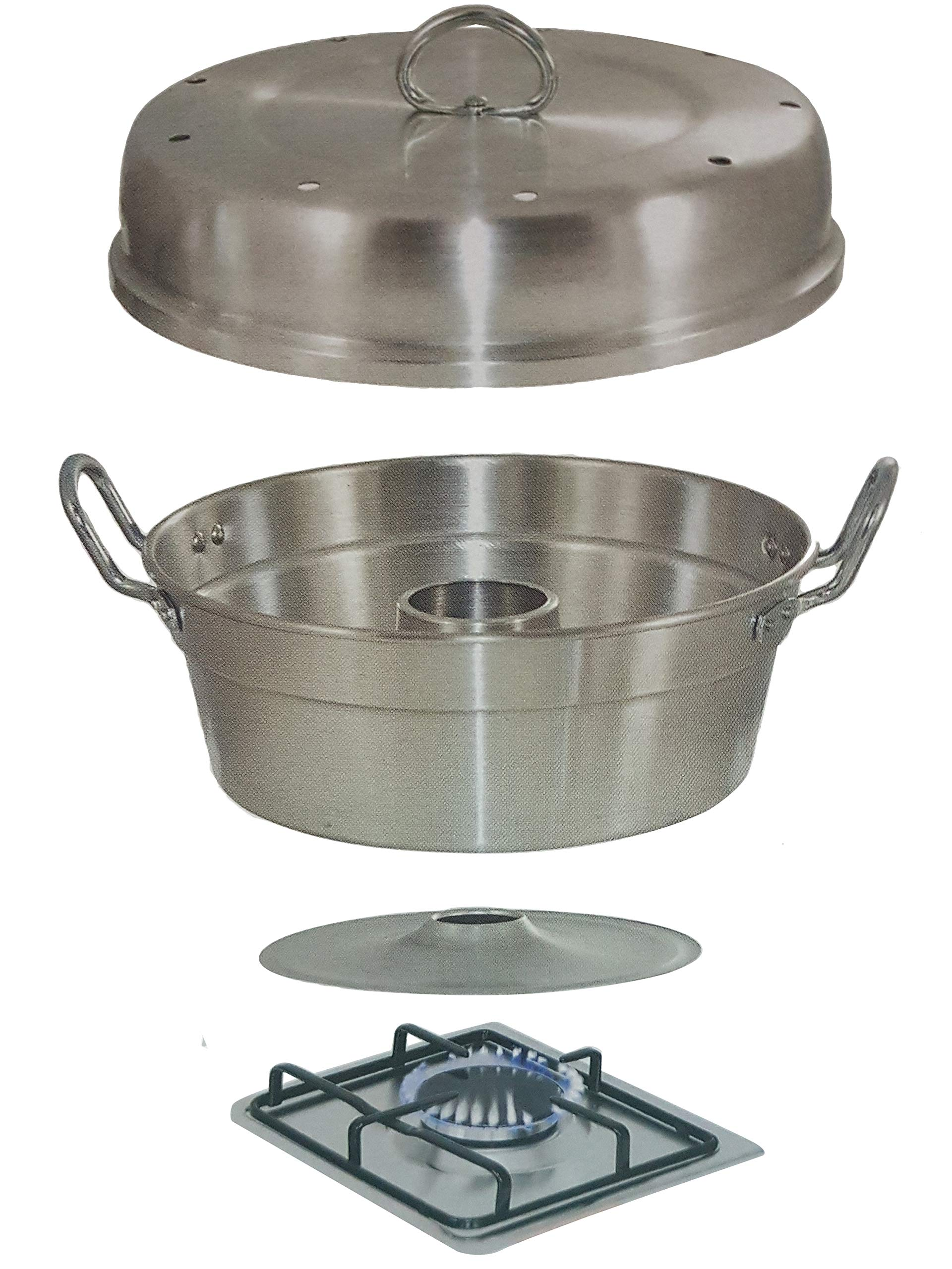CatchTheWave ALUMINUM WONDER POT Slow Cooker, 3 Quart, Oven Bakeware Cookware, Cooking Baking Cake Bread On Stove Top Gas, Made In Italy (Gas Not Included)
