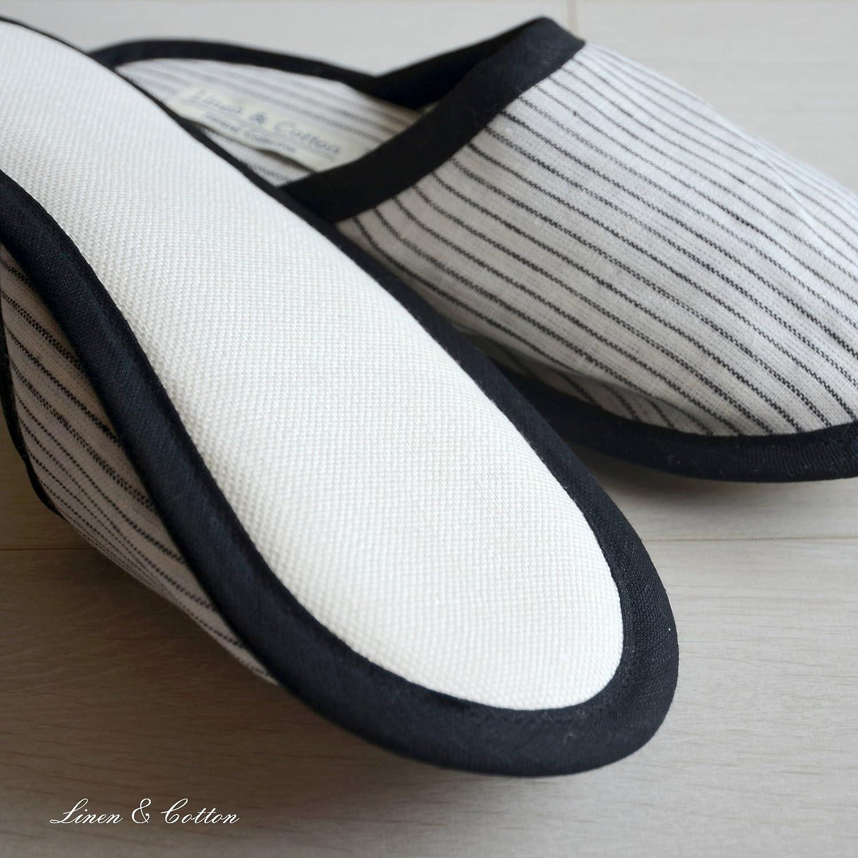 100/% Lino Linen /& Cotton Pantofole Uomo//Donna TOKHI