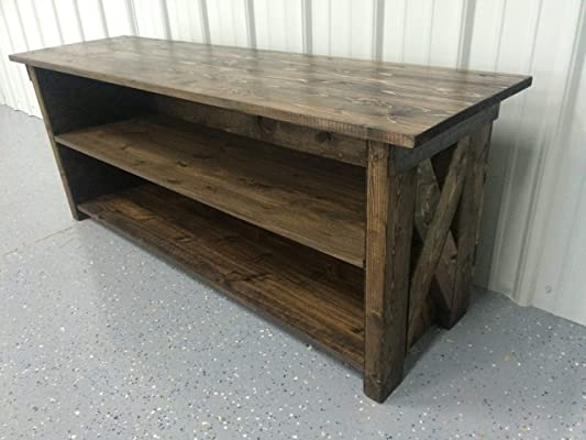 Rustic Hand Crafted 3 tier Shelf/TV Stand Cabinet