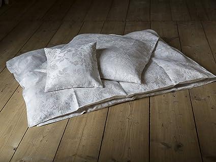 Damask Pure Linen Von Hoffmann Natural White Bettdecke 200