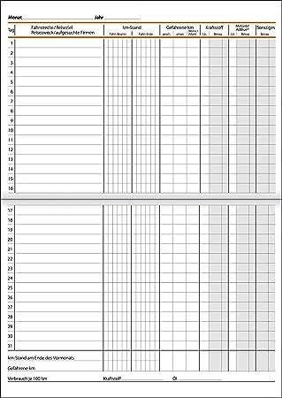 PKW und LKW 64 Seiten 420 Fahrten Heft im A5 Format f/ür alle KFZ Fahrtenbuch mit Ring/ösen zum Abheften in A4 oder A5 Ordner EXTRA SCHNELL ausf/üllbar