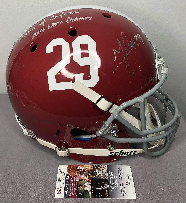 Autographed College Helmets JSA Certified Minkah Fitzpatrick SIGNED Alabama Full Size Football Helmet w//COA /& Proof
