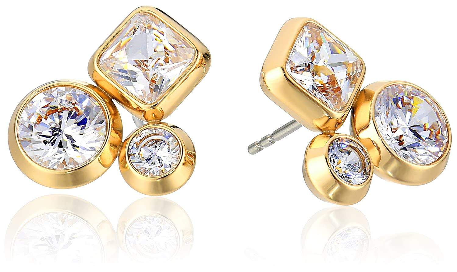 Michael Kors Brilliance Easy Opulence Gold-Tone and Crystal Cluster Stud Earrings