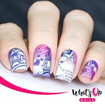 Amazon Whats Up Nails P061 I Heart Paris Water Decals