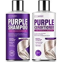 Purple Shampoo and Conditioner Set - Blonde Shampoo - Made in USA - Purple Hair Silver Shampoo - Hair Toner Shampoo…