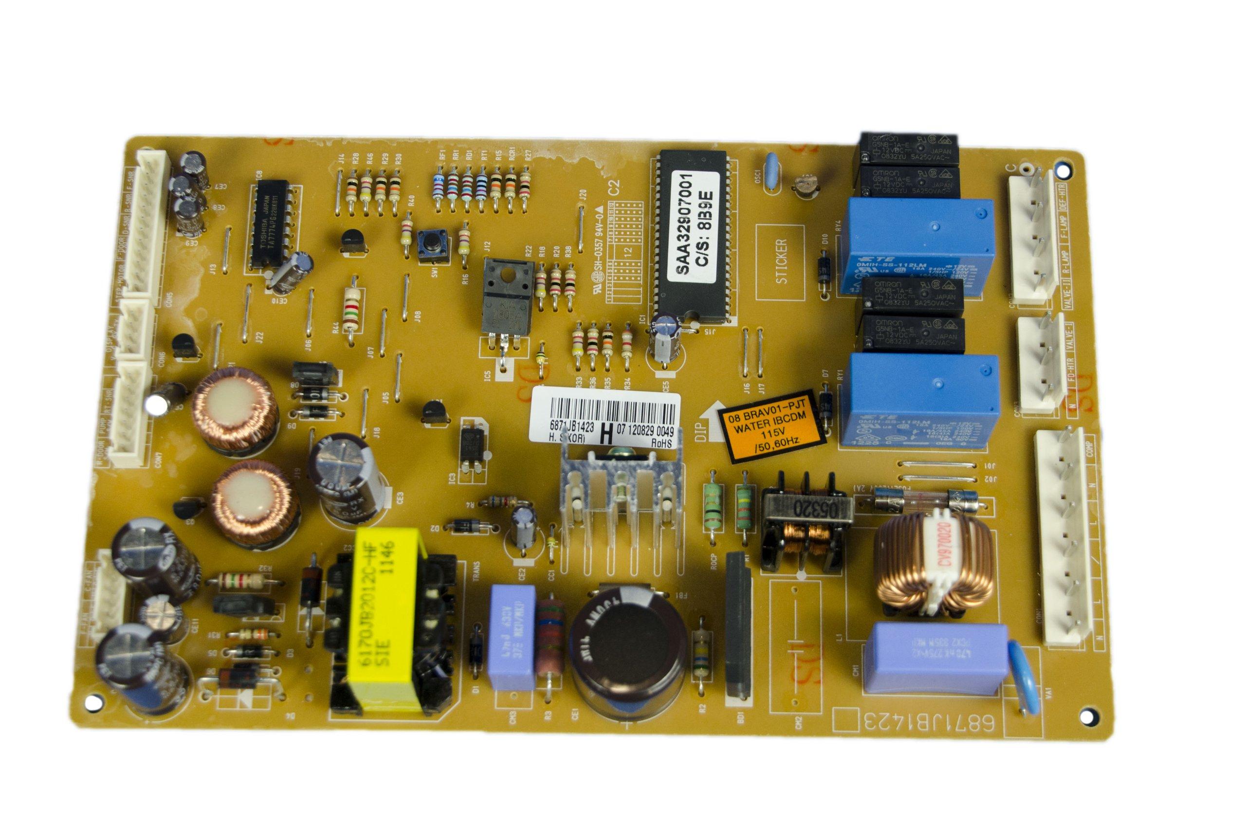 LG Electronics 6871JB1423H Refrigerator Main PCB Assembly