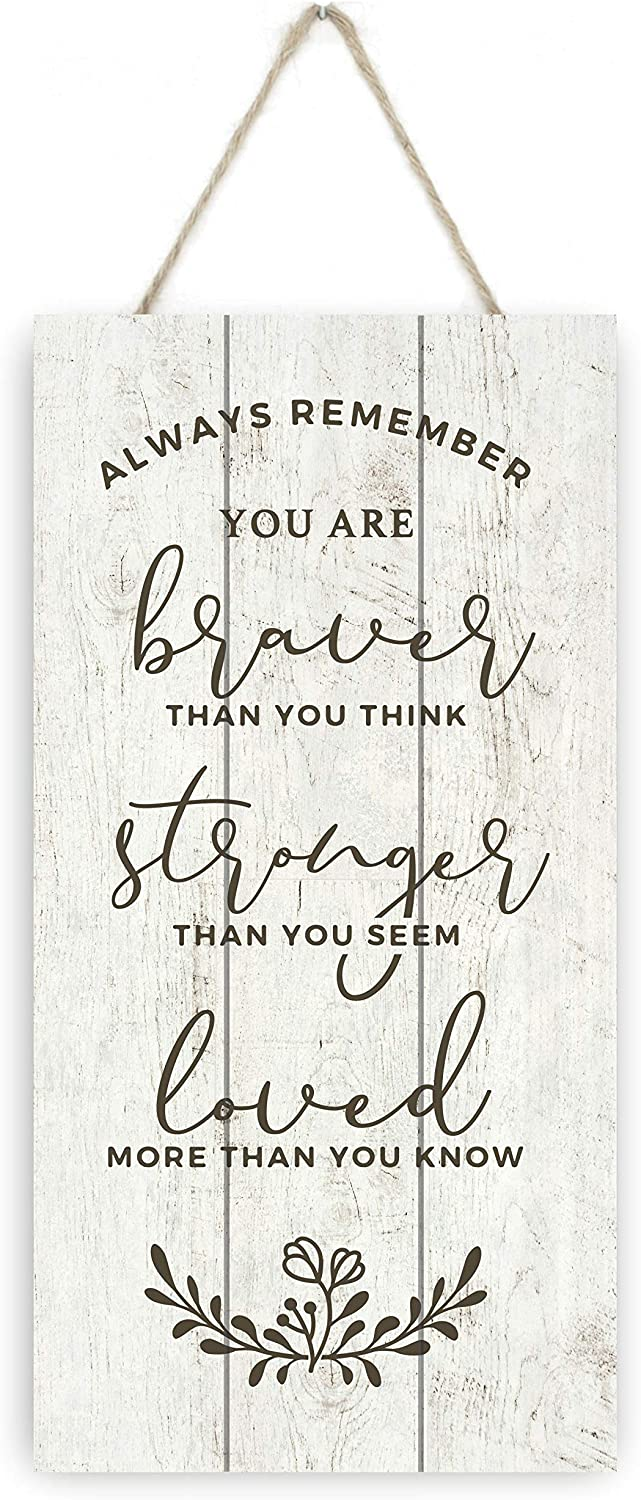MRC Wood Products Always Remember You are Braver Than You Think Wooden Plank Sign 5x10