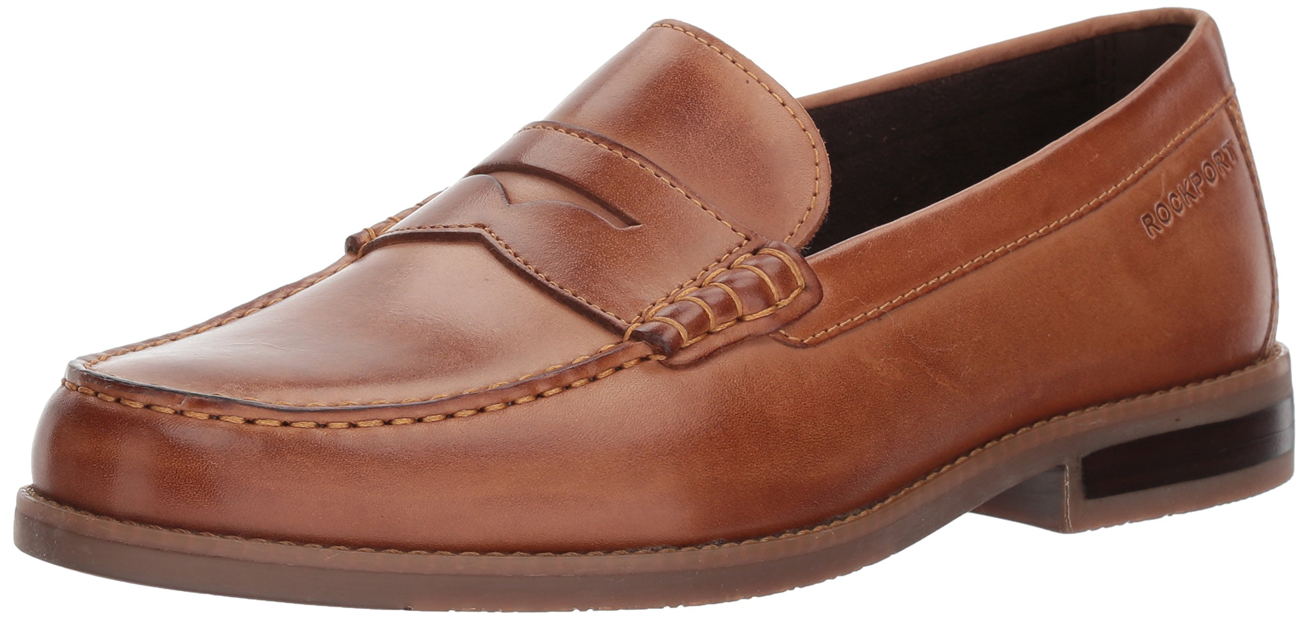 Rockport Men's Curtys Penny Penny Loafer, Cognac, 10 M US