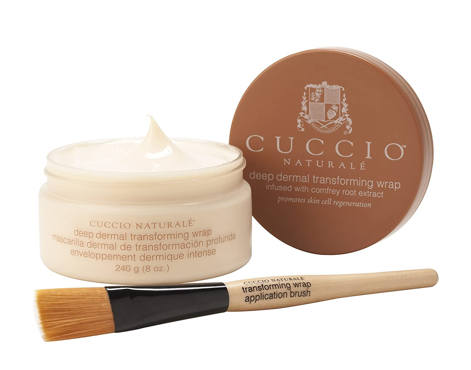 Cuccio Naturale Deep Dermal Transforming Wrap with Application Brush 240g 3117/B