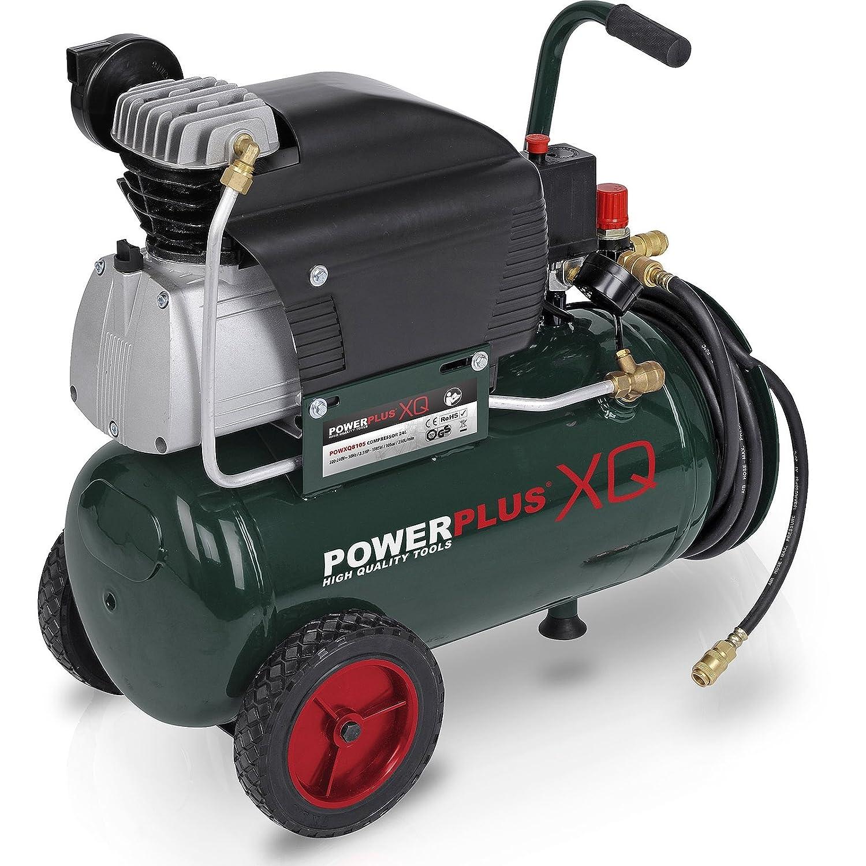 Powerplus - Compresor profesional (10 bar, 2,5 CV, 24 L, con control de presión): Amazon.es: Bricolaje y herramientas