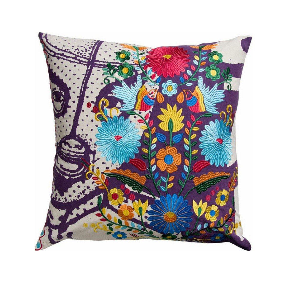KOKOメキシコEl Santo印刷と刺繍コットン枕、26 by 26-inch、マルチカラー。   B00BG7EIFO