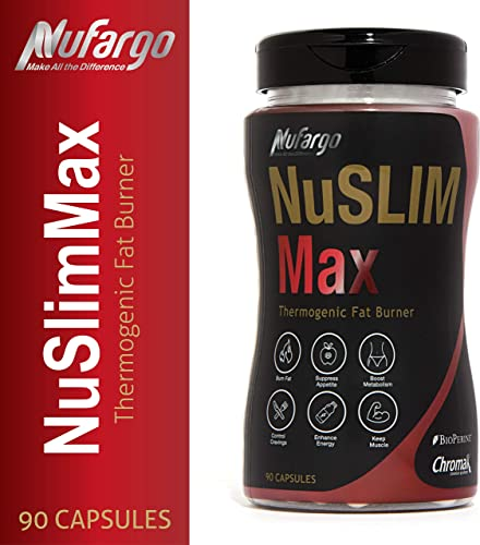 NuSlimMax Weight Loss Pills for Women and Men Thermogenic Fat Burning Supplement Keto-Friendly and Natural w Green Coffee Bean Extract by NuFargo 90 Capsules