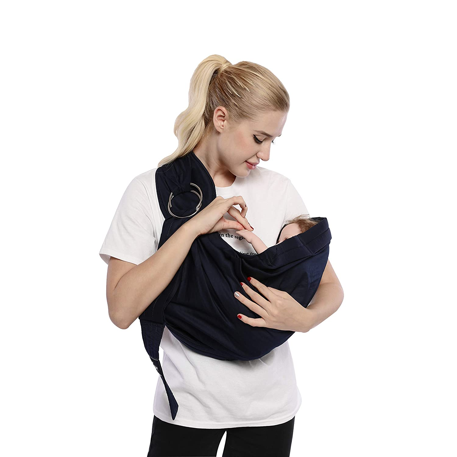 3b3b668ac95 Kangaroobaby Baby Sling Wrap Carrier One Size Fits All Adjustable for  Newborn to 33 Lbs Blue Color  Amazon.co.uk  Baby