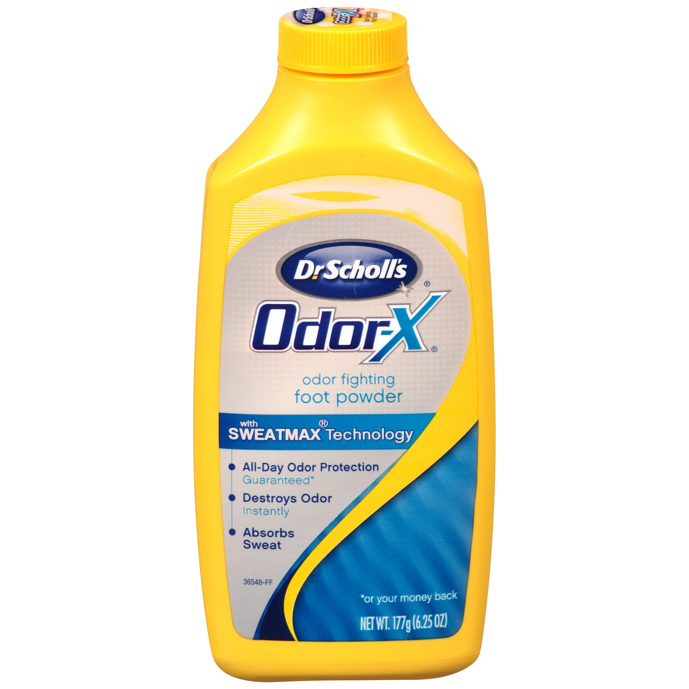 Dr. Scholl's OdorX All Day Deod Powder. 6.25 Ounces, (Pack of 3)