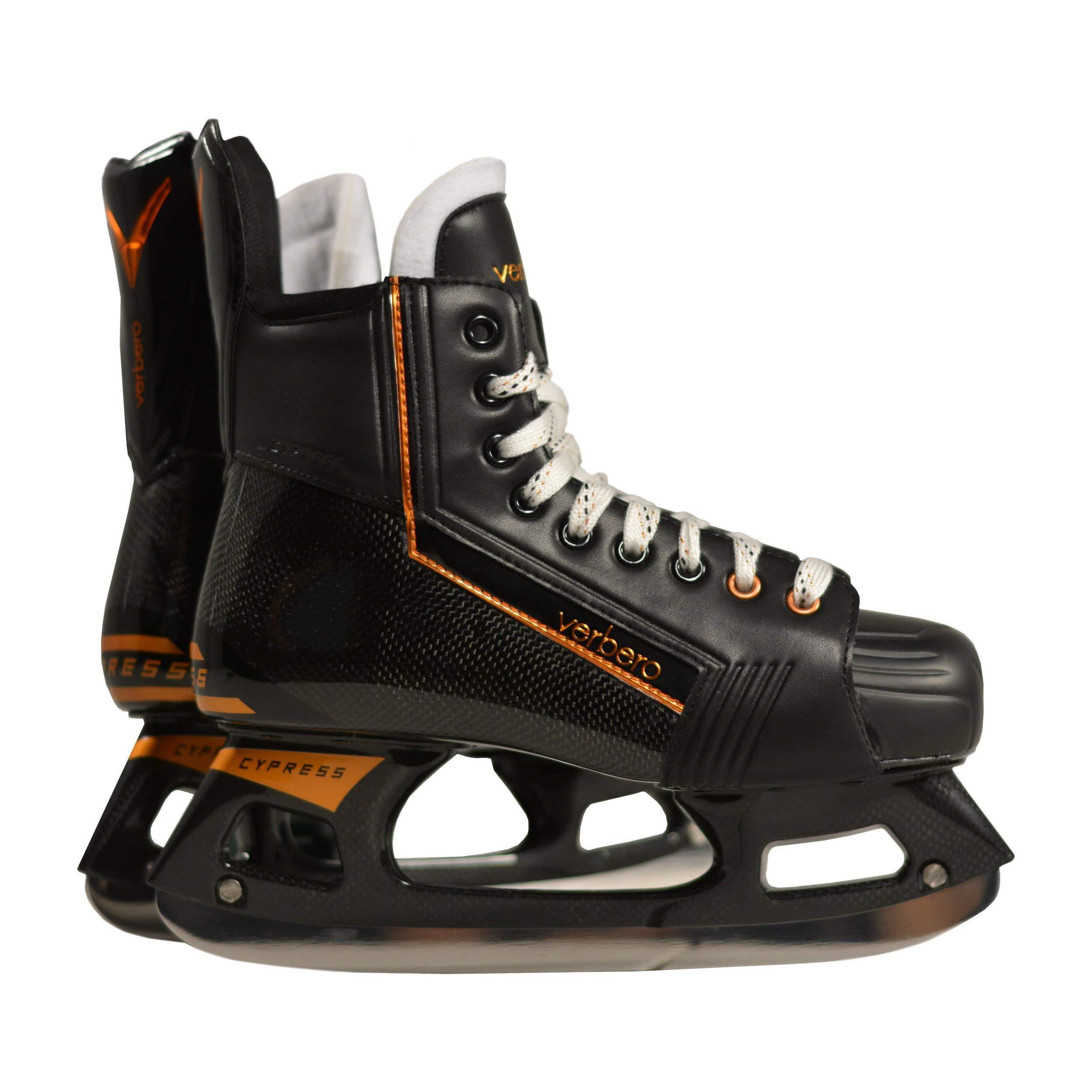VERBERO Cypress Pro+ Ice Hockey Skate (Black 6.0) by VERBERO (Image #1)
