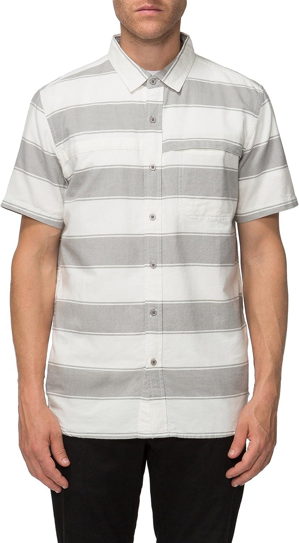 Tavik Mens Shin Short Sleeve Stripe Woven