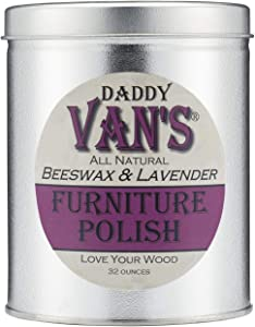 Daddy Van's All Natural Beeswax & Lavender Furniture Polish - 32 Ounce Economy Size