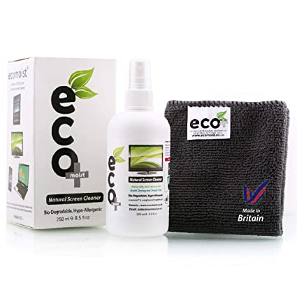 a0d7839f25 Ecomoist Natural Screen Cleaner 250ml with Fine  Amazon.co.uk  Electronics